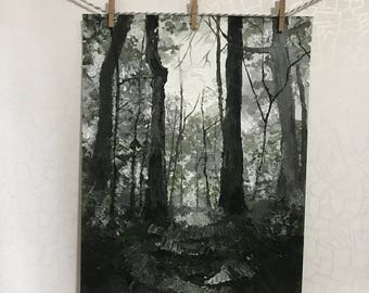 Forest/original acryic painting/hand made/nature/art