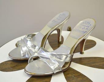 1950s Silver Spring-O-Lators Heels