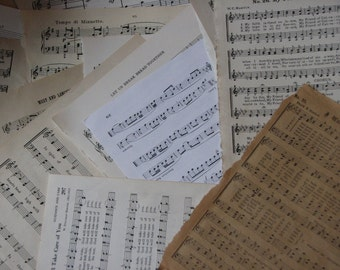 Vintage Sheet Music Bakers Dozen for Mixed Media, Collage n Altered Arts