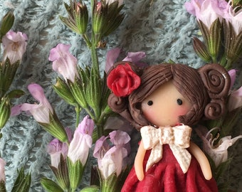"Brooch for a girl or women magic doll  ""Sasha"""