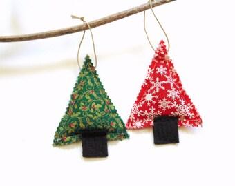 Balsam fir pine sachets tree trimming, Christmas balsam, pine cinnamon chips, scented sachets, red green, door knob hanger