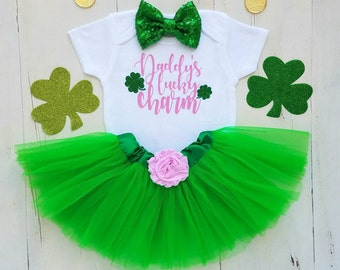 Baby girl St Patricks Day Outfit St Pattys Girl My 1st St Patricks Day Baby Girl Outfit St Patricks Day Outfit St Patricks Day onesie First