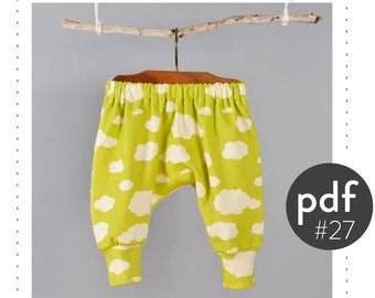 Kids harem pants sewing pattern // digital download // photo tutorial // sizes 0M-6T // #27