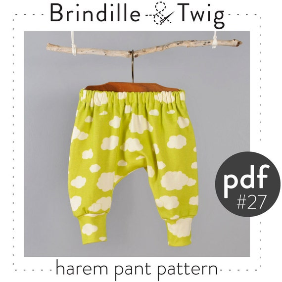 Kids harem pants sewing pattern // digital download // photo