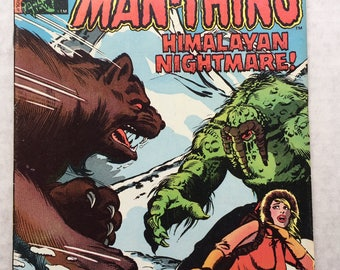 MAN-THING #2 1979 Marvel Comics comic book Himalayan nightmare swamp monster hero