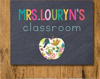 Classroom Chalkboard Sign - Teacher Classroom Decor -Teacher Sign -Classroom Rules -Classroom Decor - Custom Teacher Gift - Classroom Poster