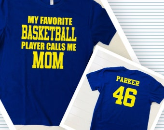 Basketball Mom, I'm a Basketball Mom, Basketball Mom Tee, Players Name and Number, Soft Tee, Cotton