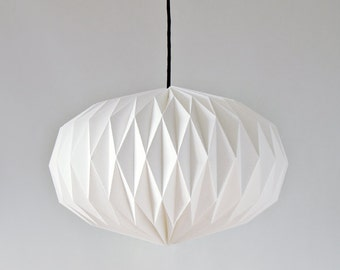 Textile Lampshade * Lens * hand-folded origami lamp shade