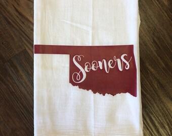 "Hand Towel ""Oklahoma-Sooners"""