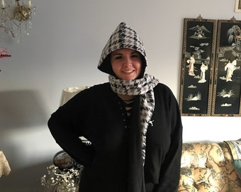 Handmade fleece hood wrap!