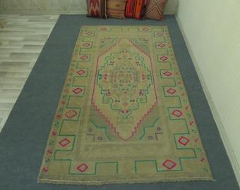 Turkish Handmade Rug Pastel Anatolian Rug Floor Rug Oushak Rug Boho Rug