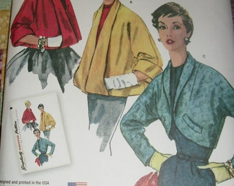 Simplicity 1319 Reproduction Pattern for 1950s Vintage Jacket in 3 styles