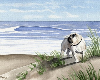PUG Art Print Signed by Artist DJ Rogers
