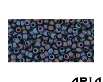 NAVY BLUE IRIS Matte (82F): 11/o Toho Japanese Seed Beads (10 grams)