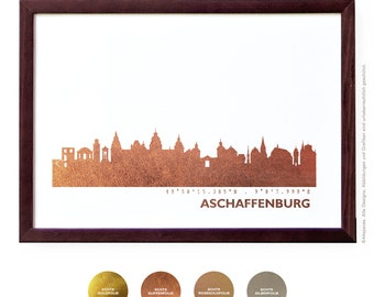 Aschaffenburg Art Print, Aschaffenburg Artwork, Aschaffenburg Decor, Aschaffenburg Poster, Aschaffenburg Art, Aschaffenburg Skyline, Wedding