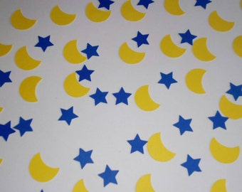 Baby Shower,First Birthday,Moon and Stars, Confetti