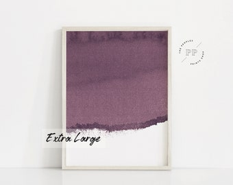 Printable Purple Art Print. Purple Print. Ultra Violet Art Print.  Watercolor Print. Purple Wall Art. Watercolor Art. Purple And White Prints