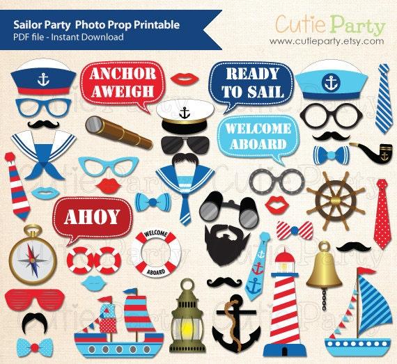 Nautical Event Decor: Sailor Party Photo Booth Prop Nautical Party Photo Booth