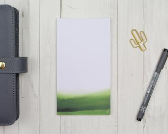 "Notepad ""watercolor green"" 50 sheets - staff"