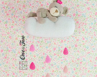 Sweet Dreams Teddy Bear Mobile - PDF Crochet Pattern - Instant Download - Blankie Baby Blanket