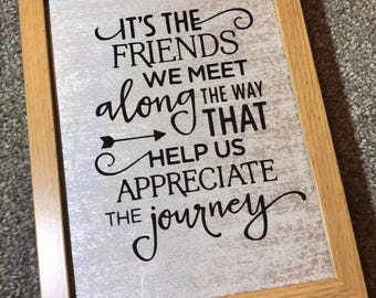 Friends Silver Quote Wooden Frame *Last One* Christmas Gift
