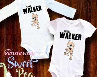 Future Walker, Zombie, Walkers, Baby Zombie, Geek Baby Clothing, Walking Dead, Funny Baby Clothing, Infant Clothing, Walker Stalker