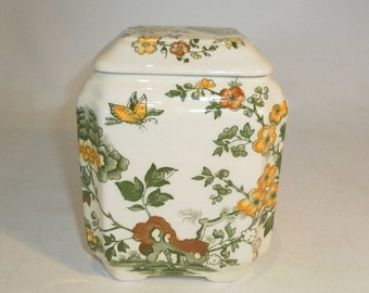 25% off Mason's Manchu square lidded jar - original from the 1940's