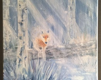 Fox Ghost Painting