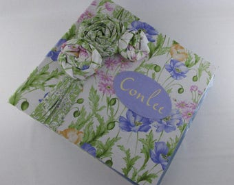 Girl Baby Memory Book Girl Photo Album Childhood Scrapbook 4x6 5x7 8x10 Pictures School Pregnancy Journal Chic Floral Flowers