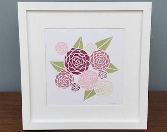 Gardener gift-flower art-flower wall art-flower home decor-garden decor-garden art-peonies wall art-peony art-gift for her