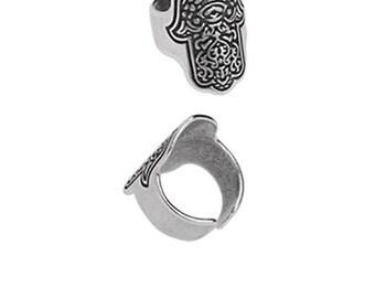 Pewter Ring - Hasma Ring - Adjustable Ring