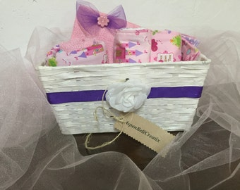 Princess baby shower basket