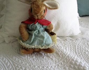 Vintage Beatrix Potter Mrs. Rabbit Stuffed Animal Adorable! Eden Toys