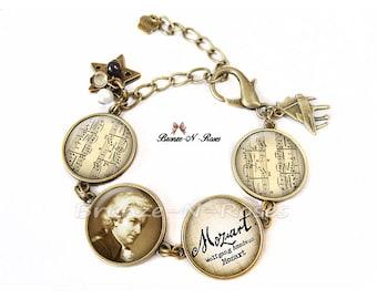 Wolfgang Amadeus Mozart glass bracelet