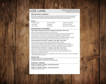 Dynamic Resume Template (with tip sheet)