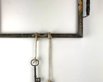 Two Vintage Cast Iron Skeleton Keys Steampunk Decor