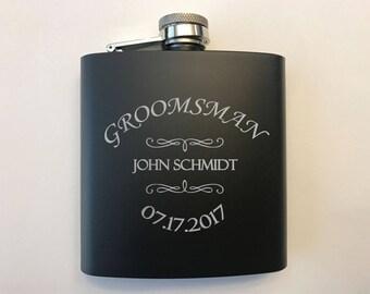 Groomsmen Gift - Groomsmen Flasks - Groomsmen Gifts - Personalized Groomsmen Flasks - Custom Flasks -  Flask For Groomsmen - Groomsman Gift