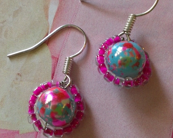 Paint The World Pink Earrings
