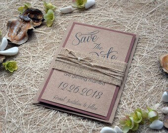Wedding Save the Date Cards, Rustic Wedding Save The Dates, Custom Save The Dates, Unique Save The Date Invitations, Kraft Save The Date