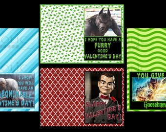Goosebumps Valentine's Day Cards INSTANT DOWNLOAD