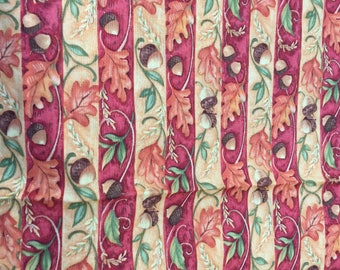 Vintage designer cotton quilt fabric perfect for Thanksgiving