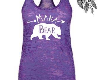 Mama Bear, Mama Bear Tank, Mama Bear Shirt, Mothers Day Gift, Mothers Day Outfit, Mom Life, White Mama Bear Top, Momma Bear, Personalized