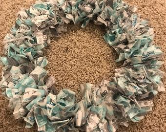 12 inch fabric wreath