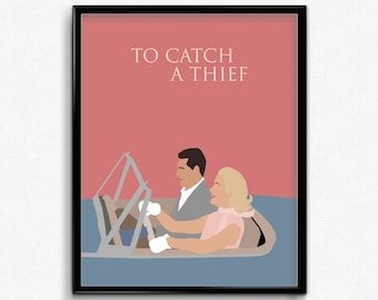 To Catch A Thief Minimalist Movie Poster- Classic Movie Wall Art