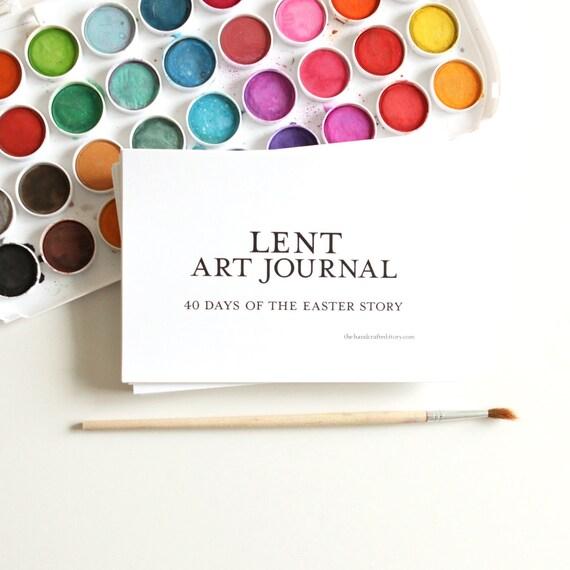 Lent Art Journal Easter Printables Kids Crafts Easter Advent