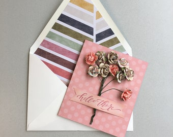 Colorful Hello There Card
