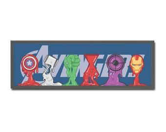 Avengers Art Print // Home Decor // Wall Art // Original