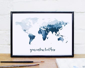 World map poster etsy gumiabroncs Choice Image