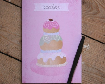 The Grand Budapest Hotel Movie Mendl's Cake Illustration A5 Lined Notebook