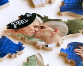 30 piece Wedding Guestbook Puzzle, guestbook alternative, wedding PHOTO puzzle guest book, Bella Puzzles™ modern wedding